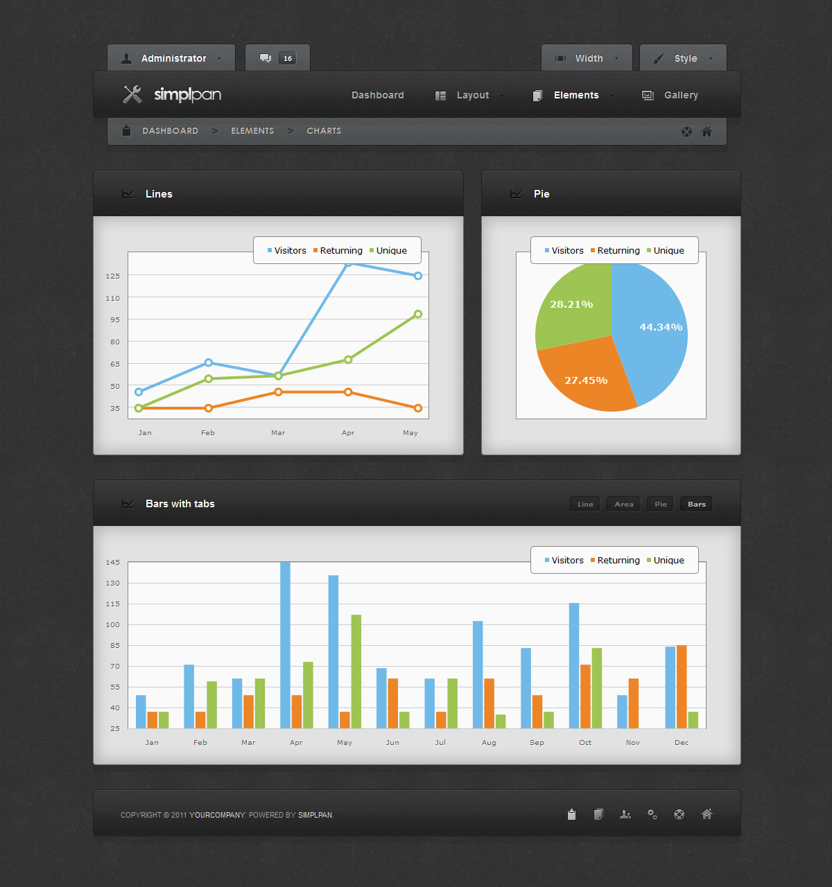 jquery admin panel template free download - simplpan admin panel template download