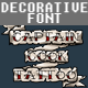 Captain Cook Tattoo Font - GraphicRiver Item for Sale
