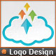Pixel Arrows Storage Up Cloud Logo Template - GraphicRiver Item for Sale