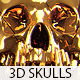 15 Isolated 3D Skulls - GraphicRiver Item for Sale