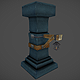 Low Poly Dungeon Pillars - 3DOcean Item for Sale