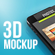 3D UI/Screen Phone Mockup - GraphicRiver Item for Sale