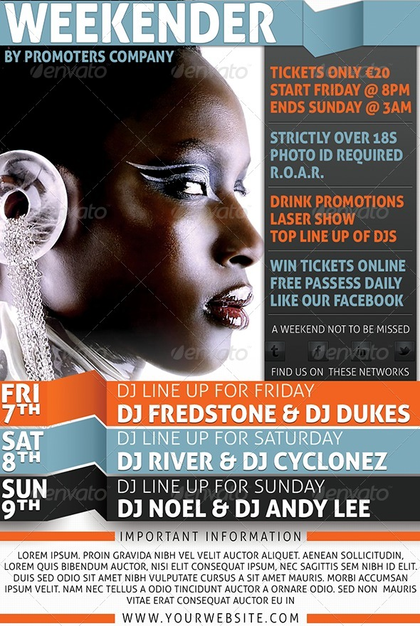GraphicRiver Weekend Flyer 4244233
