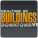 Realtime 3D Buildings Pack - Downtown V1 - 3DOcean Item for Sale
