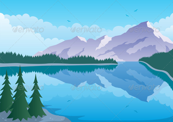 GraphicRiver Mountain Lake 469740