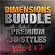Bundle - Dimensions Premium Styles Vol. 1 & 2 - GraphicRiver Item for Sale