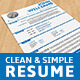 Clean & Simple Resume - GraphicRiver Item for Sale