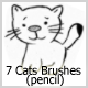 7 Cats Brushes (pencil) - GraphicRiver Item for Sale