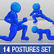 Anatomically Correct Postures Mascot Set - GraphicRiver Item for Sale