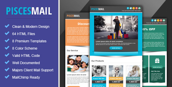 Taurus metro responsive newsletter template by pophonic for Mailchimp create template from campaign