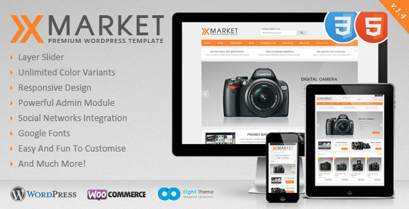 XMarket – Responsive WordPress E-Commerce Theme (eCommerce) images