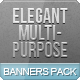 Elegant Multipurpose Web Banners Pack - GraphicRiver Item for Sale