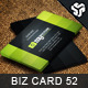 Business Card Design 52 - GraphicRiver Item for Sale