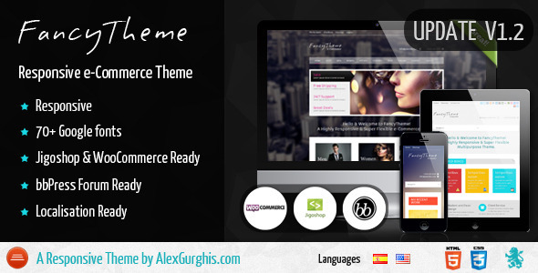 FancyTheme – e-Commerce WordPress Theme (eCommerce) images
