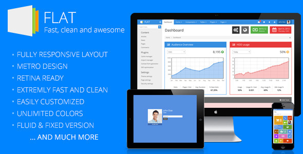 Download Templates: FLAT - Responsive Admin Template
