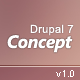 Concept: Responsive Drupal 7 Premium Theme - ThemeForest Item for Sale