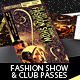 Fashion Show & Club Event Multipurpose Tickets - GraphicRiver Item for Sale