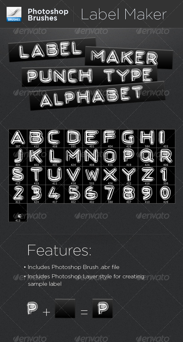 GraphicRiver Label Maker Punch Type Alphabet 4470991