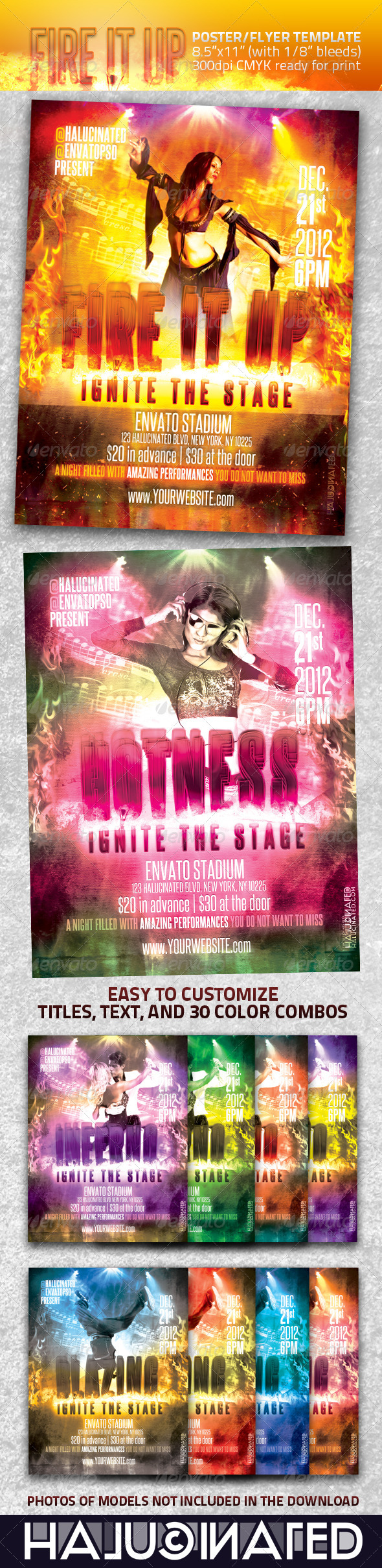 GraphicRiver Fire It Up Flyer Template 460382