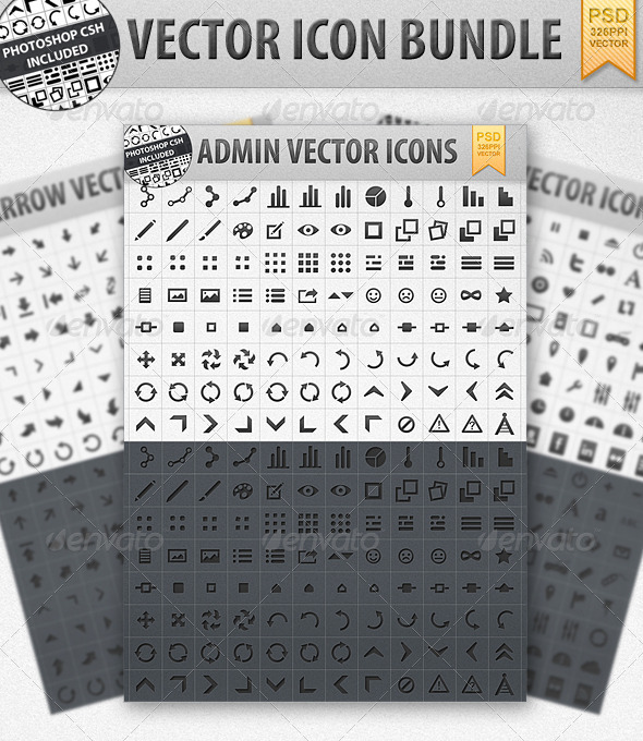 GraphicRiver Vector Shape Icon bundle incl CSH 475728