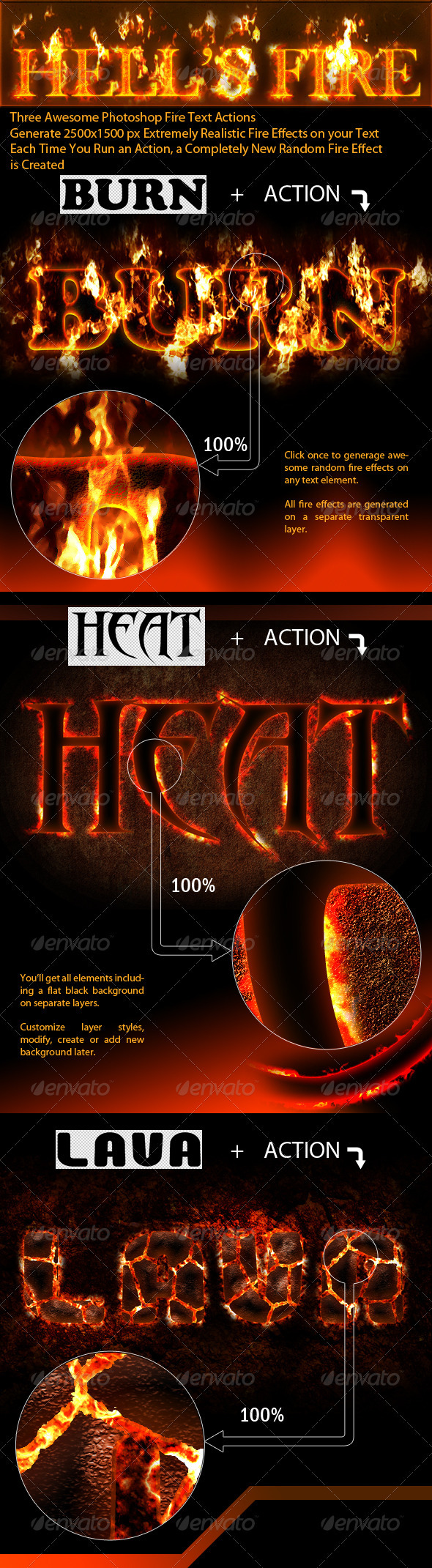 GraphicRiver Photoshop Fire Text Actions 476225