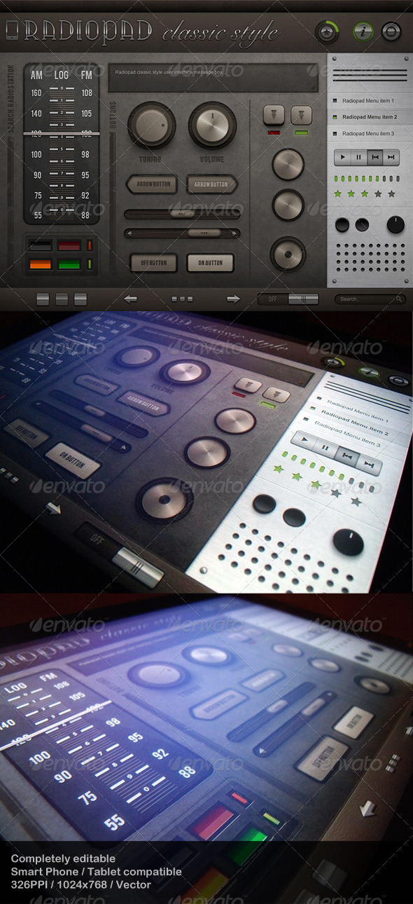 GraphicRiver Radiopad Classic Style Touch User Interinterface 477435
