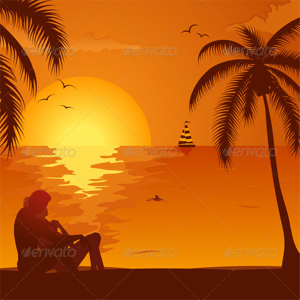 Anime Couple In The Sunset » Tinkytyler.org - Stock Photos ...