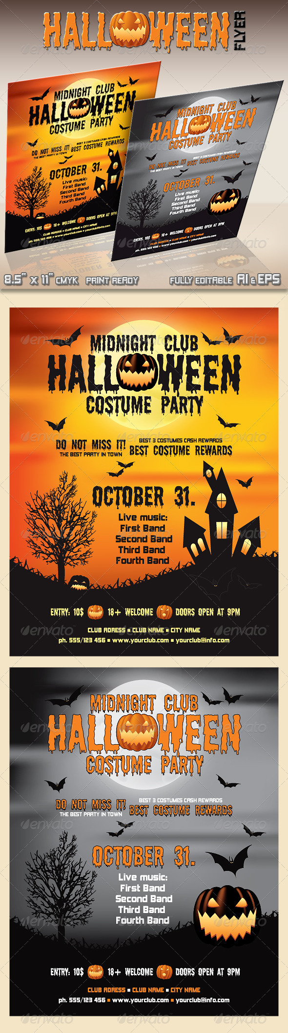 GraphicRiver Halloween Flyer 478198