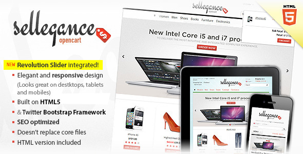 Sellegance - Responsive and Clean OpenCart Theme Download