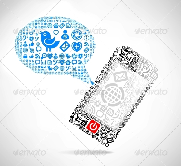 GraphicRiver Mobile Phone Text Message Balloons 4577476