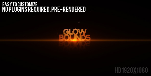 After Effects Project - VideoHive Glow Bounds 479797