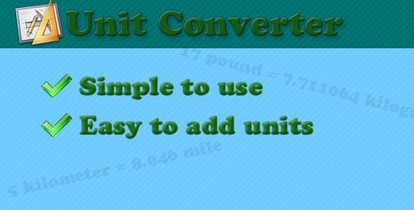 CodeCanyon Unit converter class 480476