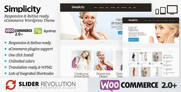 Simplicity – eCommerce WordPress Theme, Responsive (eCommerce) images