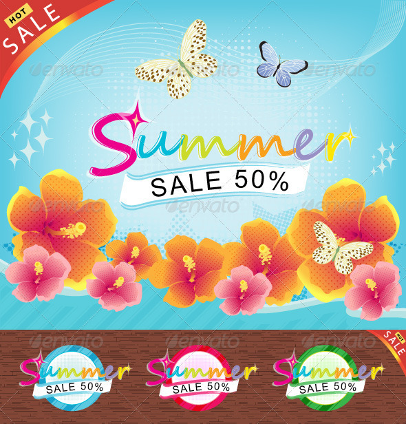 Graphic River Summer Sale Theme ! Vectors -  Conceptual 481314