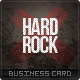 Hard Rock Business Card - GraphicRiver Item for Sale