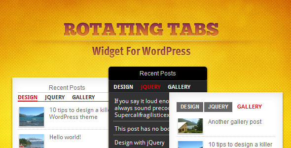 Tabs Widget for WordPress - CodeCanyon Item for Sale