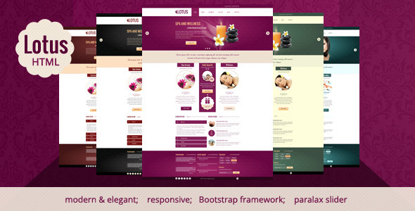 Site Templates –  Lotus – Spa & Wellness HTML Responsive Template | ThemeForest