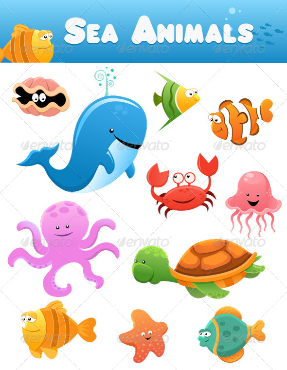 water animals clipart images - photo #49