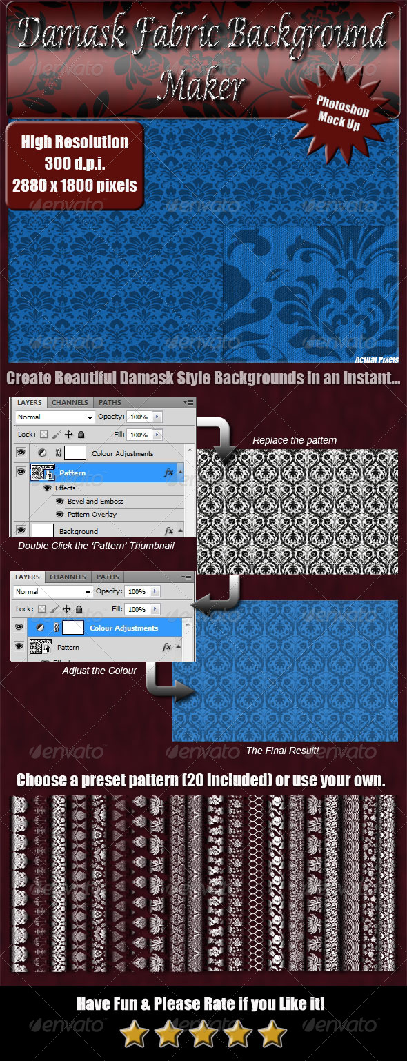 GraphicRiver Damask Fabric Background Maker 4641794