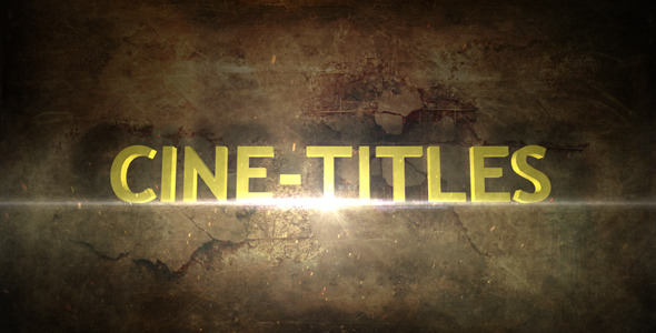 After Effects Project - VideoHive Cine-Titles 486047