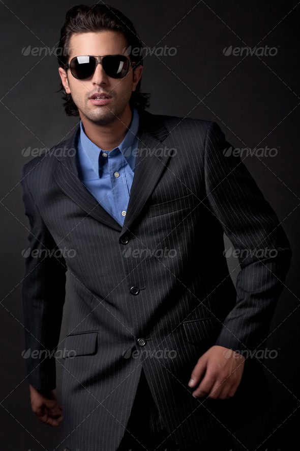 PhotoDune handsome young fashion model 486710