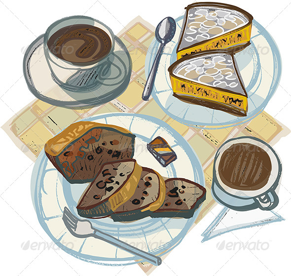 clipart coffee and cake - photo #31