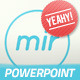 Mir - Minimalistic and Fresh Powerpoint Template - GraphicRiver Item for Sale