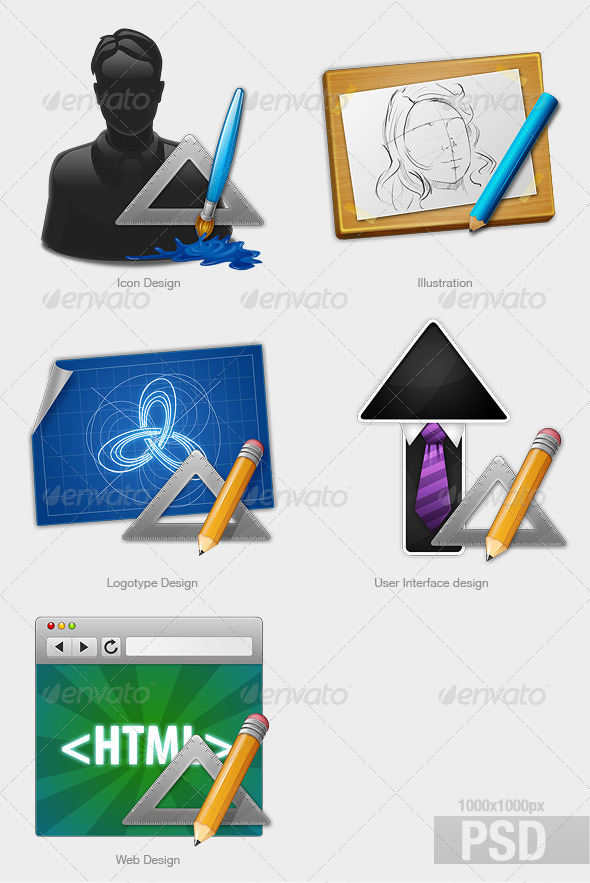 Graphic River Services  Icons -  Web 480630
