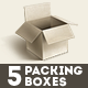 5 Packing Boxes - GraphicRiver Item for Sale