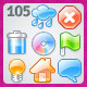 105 Brilliance raster icons - GraphicRiver Item for Sale