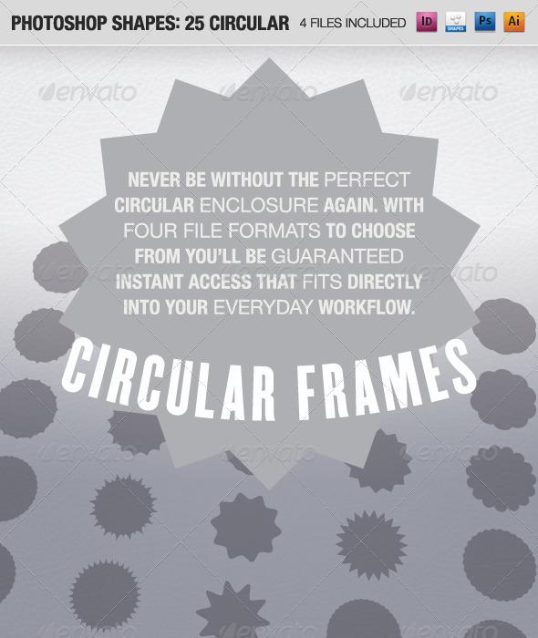 GraphicRiver 25 Circular Frames 490655