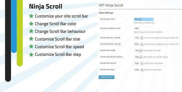 WP Ninja Scroll Bar customizer (Interface Elements) | Cash