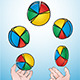 Juggling Pie Charts - GraphicRiver Item for Sale