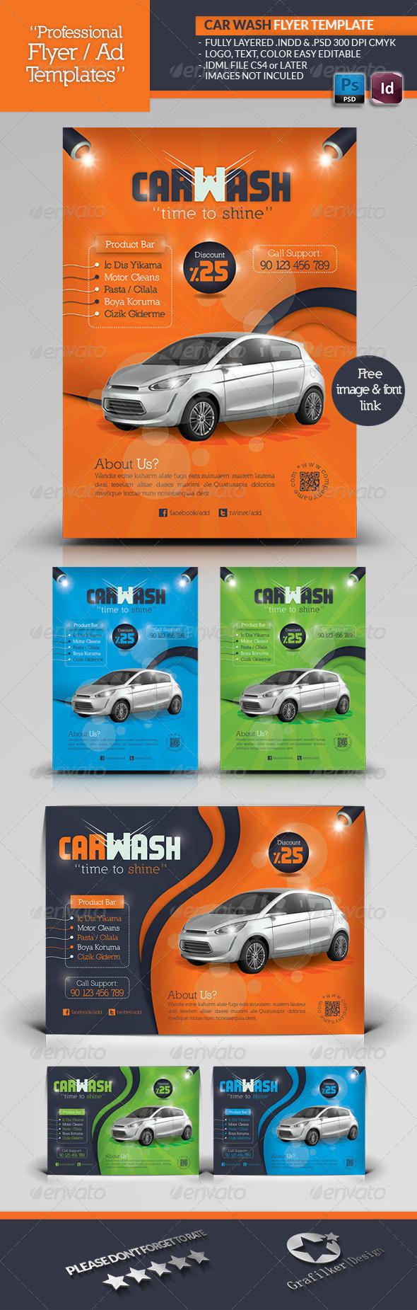Car Wash Flyer Template  Car Flyer Template